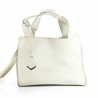 9668a1af973e Botkier NEW White Ivory Silver Fulton Small Tote Leather Handbag  288-  024