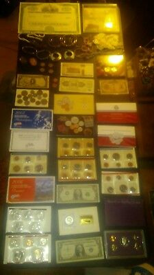 BIG coin LOT collection MINT SETS PROOF STAR N SILVER C $1 GP BAR NO JUNK DRAWER