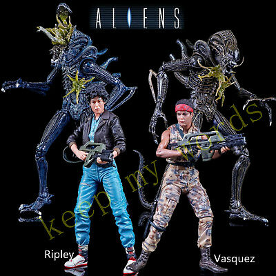 "NECA 7"" ALIENS 2 movie SERIES 12 PVC ACTION FIGURE Ripley Vasquez Xenomorph New"
