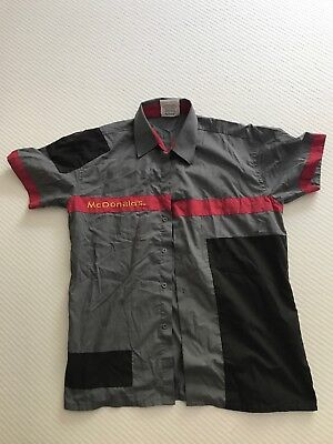 2012 McDonald's Australia Grey / Red Crew Uniform Medium