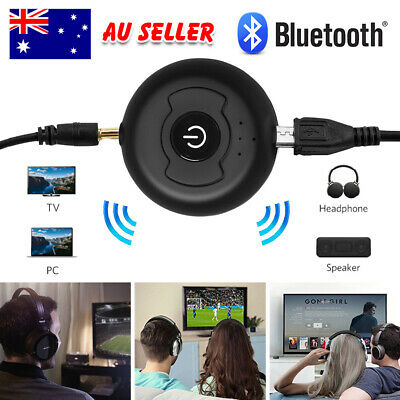 2in1 Bluetooth Transmitter 3.5mm A2DP Stereo Audio Adapter Dongle for TV Speaker