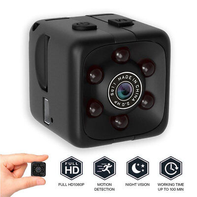 COP CAM Security Camera Hidden Video Motion Detection 32GB Card SQ11 mini Cam ST