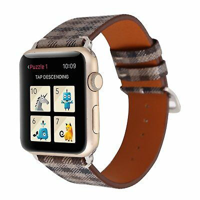 Watch Band Lattice Pu Leather Wrist Strap For Apple Watch Series4 3 2 1(38/42mm)