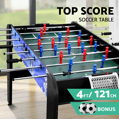 4FT Soccer Table Tables Balls Foosball Football Game Home Party Gift Black