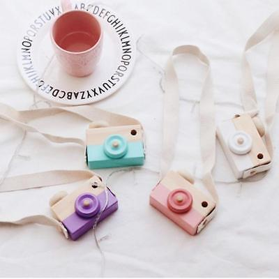 Children Room Wood Camera Decor Natural Safe Wooden Toy Painted Nursery Toys YW