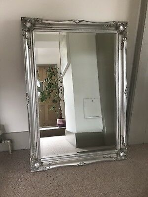 FRENCH VINTAGE STYLE SILVER MIRROR - Size(W)75cm X(L)103cm. EXCELLENT CONDITION