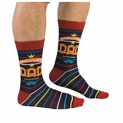 Cockney Spaniel Fun Socks For Men World's Best Dad Father's Day Gift UK 6-11