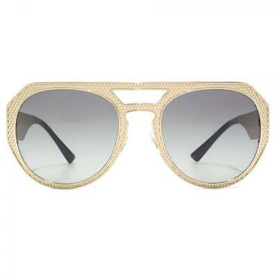 efcc94e0323 Versace Medusa Pilot Sunglasses in Pale Gold Grey Gradient VE2175 125211 60