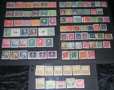 Czechoslovakia pre-1950 mint Collection 92 diff stamps