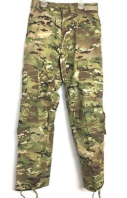 Multicam Army Combat Pants w Knee Pad Slots, Flame Resistant, Small Short