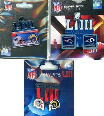 Super Bowl LIII Dueling Pin Choice Rams vs Patriots Head to Head 53 PSG Aminco W