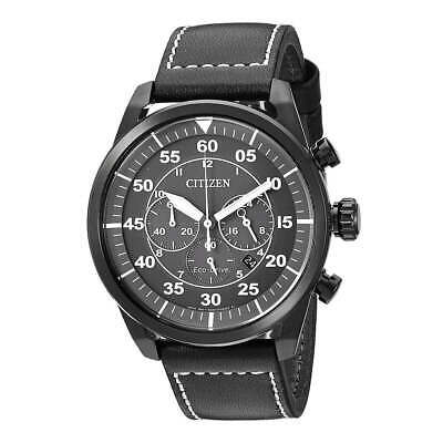 Citizen CA4215-21H Men's Avion Grey Dial Black Strap Chrono Watch