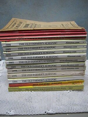 Lot 16 OLD FARMER'S ALMANACS Years 1966-2014 Robert Thomas Hagers-Town Almanack