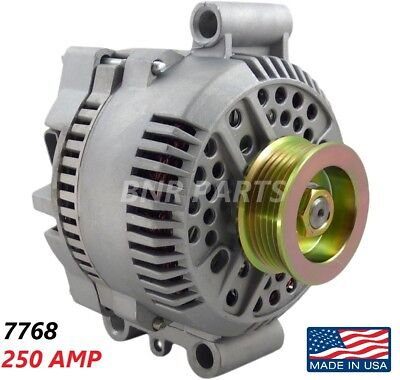 250 AMP 7768 Alternator Ford Mazda High Output Performance HD NEW Made In USA