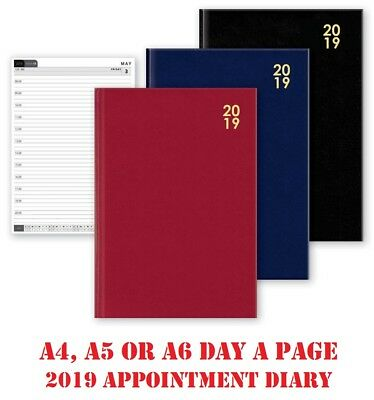 2019 Diary A4 A5 A6 Hardbacked Page A Day Appointment Organiser Pocket Diaries