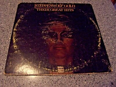 """Steppenwolf """"Their Great Hits"""" DUNHILL DSX-50099 LP JOHN KAY"""