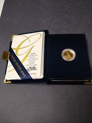 2008 American Gold Eagle Proof (1/10 oz)  in Box. Nice.