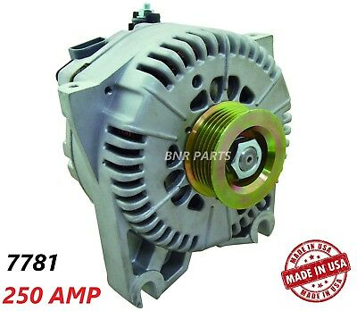 250 AMP 7781 Alternator Ford Lincoln 4.6L High Output Performance HD NEW USA
