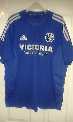 MENS FOOTBALL SHIRT - FC Schalke 04 - 2002-04 Home - Adidas - Blue ... a34a399f7