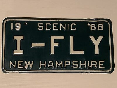 1968 New Hampshire Scenic Vanity License Plate I-FLY