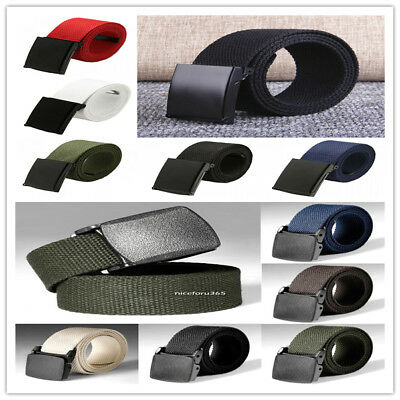 Canvas Web Belt for Man Non-Metallic Airport-friendly Military Style Canvas belt