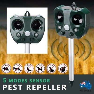 Solar Ultrasonic Rats And Bats Repeller Motion Sensor Bird Rat Possum Repellent