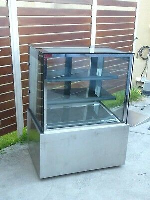 Cake Display Cabinet Ambient 85W X 120H X 65D Led Lighting Sliding Glass Doors