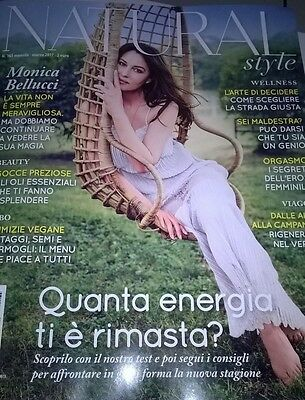 Monica Bellucci New Natural Style Magazine Italy March 2017 Beauty Wellness
