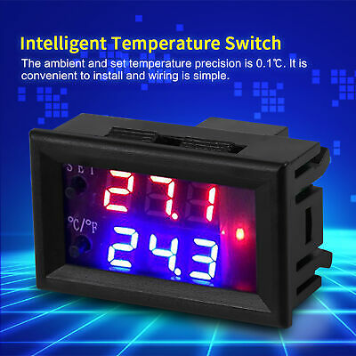 Digital LED Microcomputer Thermostat Controller Switch Temperature Sensor DC12V