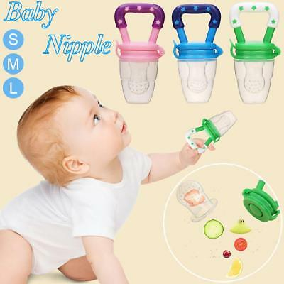 Baby Pacifier Fresh Food Fruit Milk Safe NON-TOXIC Silicone Feeding Pacifier