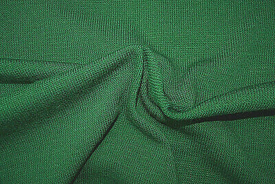 Dark Green Tone Lambs Wool Blend Light Weight Fine Knit Made In Italy B144