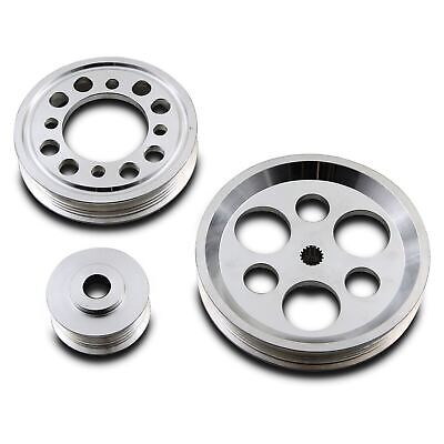 Alloy 3Pc Under Drive Engine Pulley Kit For Toyota Supra Mk4 Jza70 Jza80 1Jz 2Jz