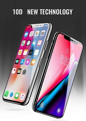 10D Curved Tempered Glass Screen Protector Guard For Apple iPhone X / XS
