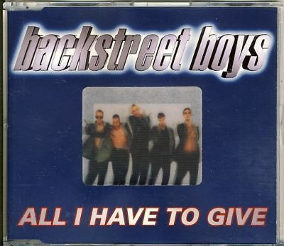 BACKSTREET BOYS - all i have to give  4 trk MAXI CD 1997