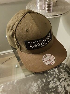 36676bbe5e7 Mitchell   Ness Olive Snapback Baseball Cap Hat Olive with adjustable snap