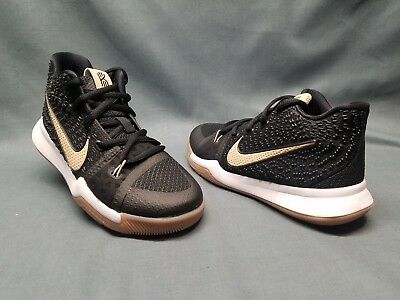 cc132012a02 Nike Kyrie 3 (PS) Athletic Sneakers Mesh Black Linen Gum Boys Size 13 NEW
