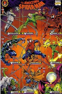 1994 Amazing Spider-Man 9-Card Promo Sheet, Ccpg Variant - Lot Of 5