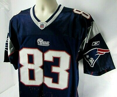422ba457778 REEBOK Onfield NFL Jersey Adult Size 48 WES WELKER 83 New England Patriots