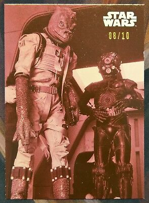 2019 Star Wars Black and White Empire Strikes Back RED Bossk 4-LOM Card #65 8/10