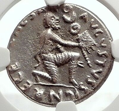 AUGUSTUS Ancient 19BC Silver Roman Coin STANDARDS RETURN from PARTHIA NGC i75082