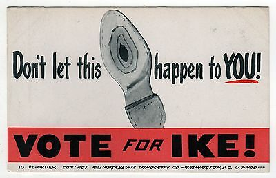 1952 DWIGHT IKE EISENHOWER President POLITICAL Palm POLL Card VOTE FOR IKE