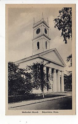 MARTHA'S VINEYARD Massachusetts PC Postcard MARTHAS Edgartown METHODIST CHURCH