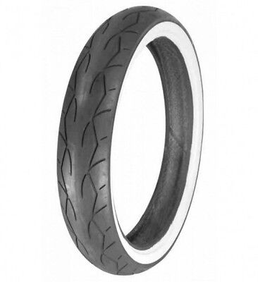 Vee Rubber VRM-302 Twin Front 120/70-21 Whitewall Motorcycle Tire - W30201