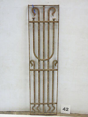 Antique Egyptian Architectural Wrought Iron Panel Grate (E-42)