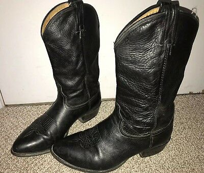 fe05f9c0c48 MENS TONY LAMA Ol' Buck Black Leather Cowboy Boots Size 11.5 EE 6156  Motorcycle