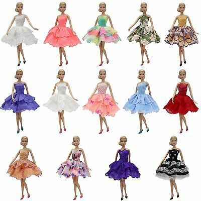 1x Mini Handmade Party Princess Dress Clothes Gown For 11.5 inch Girl Doll Kid