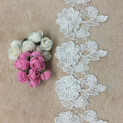 20 Yard Lace Embroidered Sewing Applique Craft DIY Trim Ribbon Wedding Dress H16