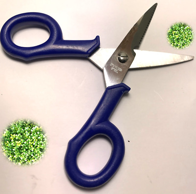 FLORIST SCISSORS WITH WIRE CUTTER 140mm, LONG SOFT GRIP, STAINLESS STEEL