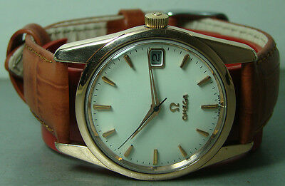 Vintage Omega Seamaster Automatic Date 563 Steel Gold 27169215 Watch Old WBST