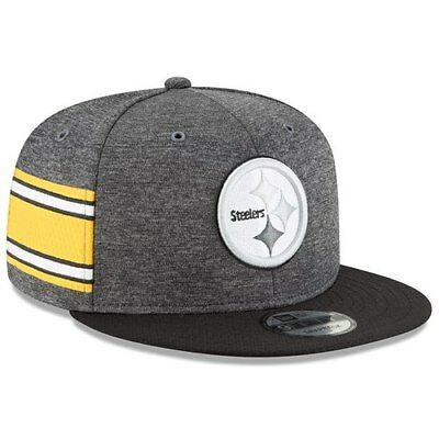 a85a07f3de4 Pittsburgh Steelers New Era 2018 NFL Sideline Home Graphite 9FIFTY Snapback